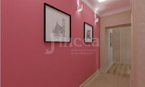 Гладкие однотонные стены - идеальный фон для размещения картин с подсветкой.