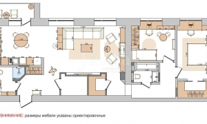 Дизайн-проект квартиры: план расстановки мебели.