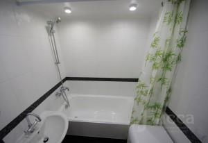 Отделка ванной комнаты. Трехкомнатная квартира