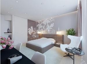 Дизайн-проект спальни 3-комнатной квартиры. Российская, 21