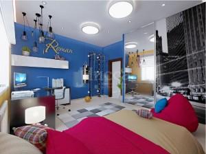 Дизайн-проект детской в 3-комнатной квартире. Российская, 21
