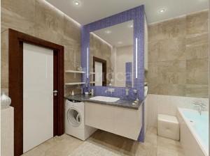 Дизайн-проект ванной комнаты в 3-комнатной квартире. Российская, 21