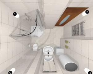 Дизайн-проект маленькой ванной комнаты