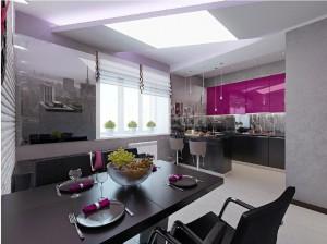 Дизайн кухни и столовой