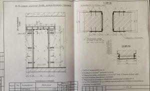 Схема устройства проема в капитальной стене