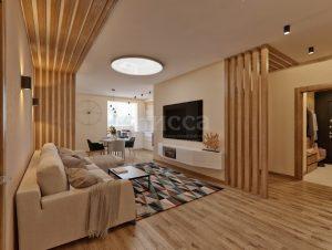 Дизайн квартиры.Гостиная для досуга всей семьей